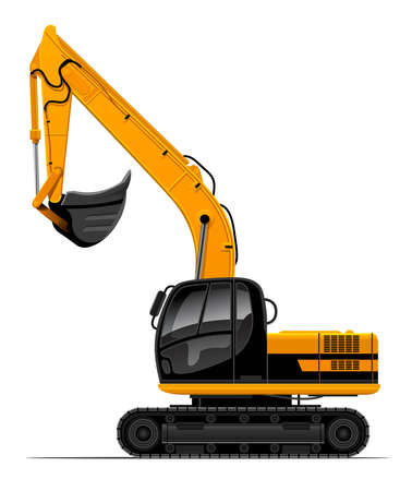 vector power-shovel for construction isolated on white background