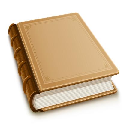 Vecchio libro con copertina in bianco - illustrazione vettoriale