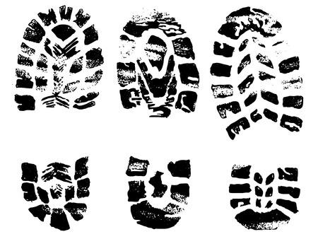 set of black crosses stamps - vector illustration