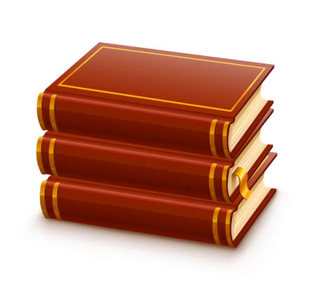 pile of closed red books illustration, isolated on white background Stock Illustration - 6589972