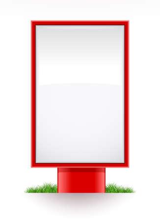 citylight: blank advertising stand citylight