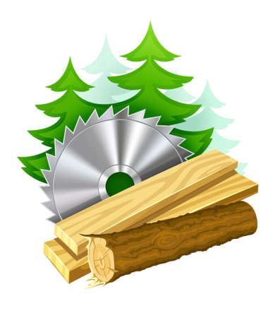 icon for woodworking industry  illustration isolated on white background. Gradient mesh used. Stock Illustration - 7017810