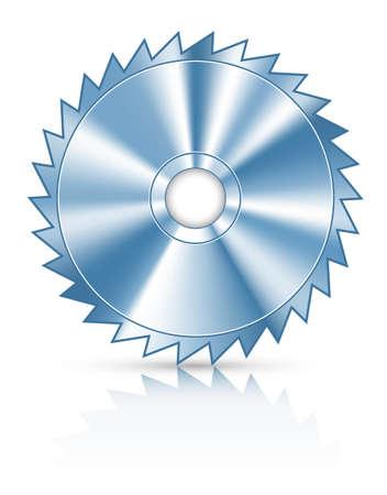 Blade cirkel zaag voor het snijden van hout vector illustratie geïsoleerd op witte achtergrond