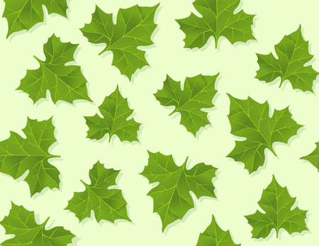 background seamless pattern of green leaves Stock Photo - 7612966