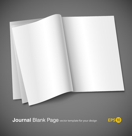 magazine blank page template for design layout vector illustration on gray background