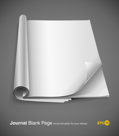 journal page with design layout vector illustration on gray background. eps10