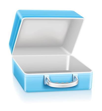 illustration de vecteur vide déjeuner blue box isolée sur fond blanc