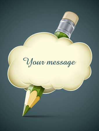 creative artistic concept pencil in cloud vector illustration