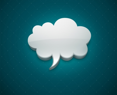 Cloud bubble icon for message vector illustration EPS10. Transparent objects used for shadows and lights drawing.