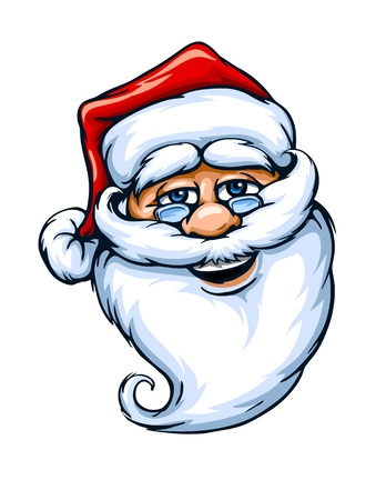 smiling Santa Claus face vector illustration isolated on white background EPS10. Stock Vector - 15683507