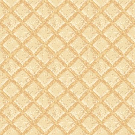 Crisp waffles pattern seamless texture - EPS 10 vector illustration