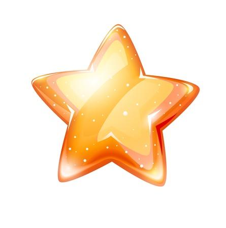 Magie étoile d'or brillant isolé sur fond blanc - illustration vectorielle EPS10. Les objets transparents utilisés pour les lumières et les ombres de dessin Banque d'images - 18534352