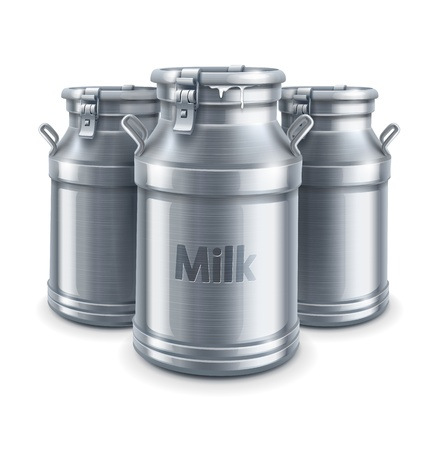 can container for milk isolated on white background   Illustration