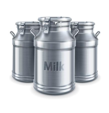 Récipient pour le lait peut isolé sur fond blanc Banque d'images - 20059656