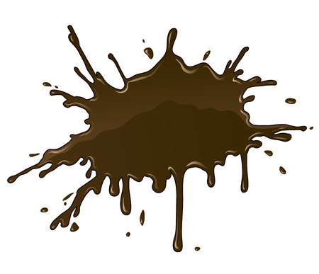 Chocolate splash blot with drops and blot. Stock Vector - 26519127