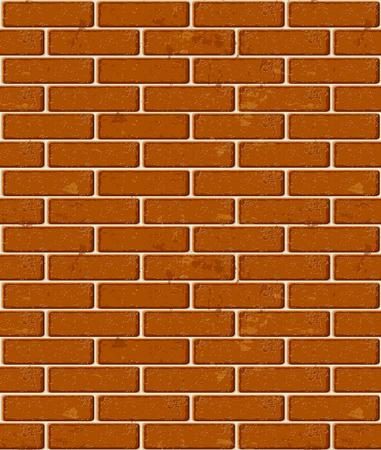 Seamless red brick pattern texture. Vector illustration Vector