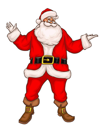 Santa claus in christmas suit. Eps8 vector illustration. Isolated on white background Illustration