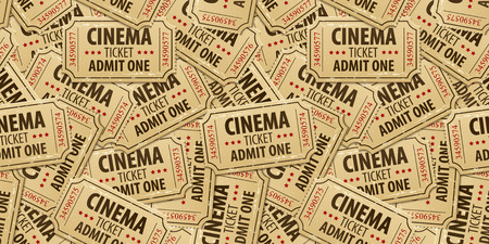 Seamless pattern background of cinema tickets. Eps10 vector illustration Иллюстрация