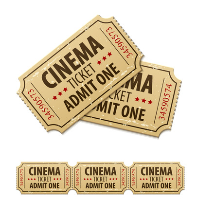 Old cinema tickets for cinema.