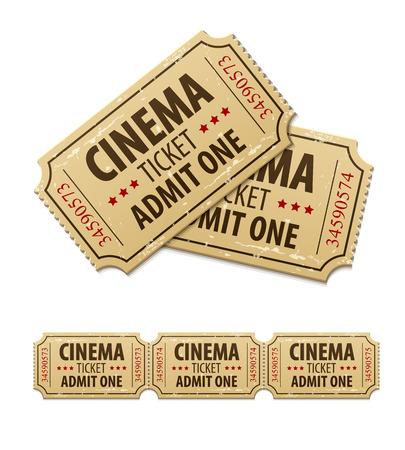 Old cinema tickets for cinema. Stock Vector - 33942241