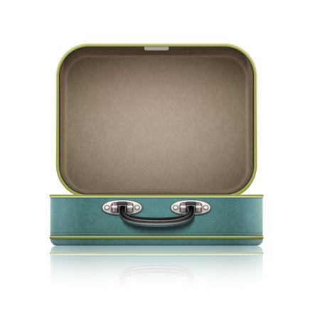 Otwórz starej retro walizka do podróży.