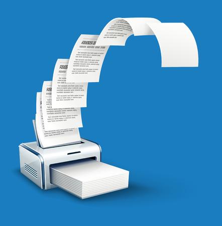 druk drukarka kopiuje tekstu do papieru z copyspace