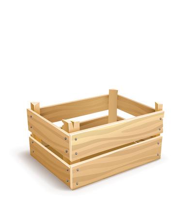 果物や野菜を維持するための木製の箱。