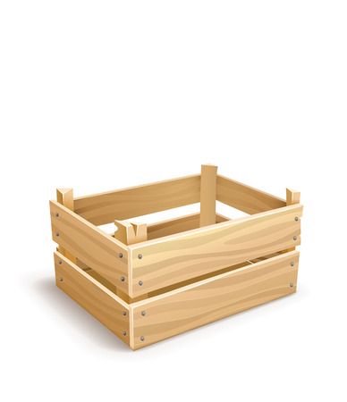 Wooden box for fruits and vegetables keeping.