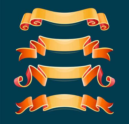 Set of decorative ribbons, elements for design. Eps10 vector illustration. 일러스트