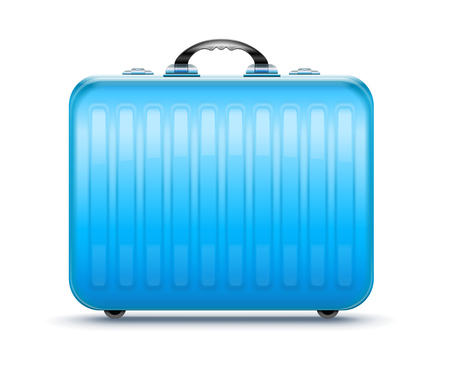 Suitcase for travel, icon isolated white background. EPS10
