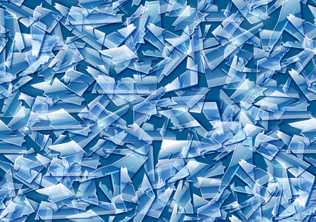 Broken glass. Seamless texture pattern, background. EPS10 vector illustration. Banco de Imagens - 107065100