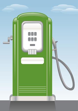 petrol: Old style gasoline pump.