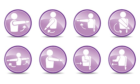 abduction: 8 shoulder action icons