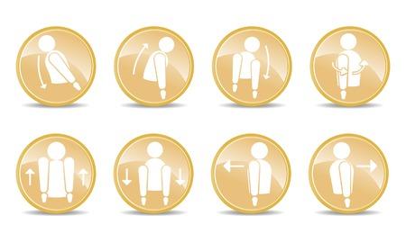backwards: 8 spinale actie iconen