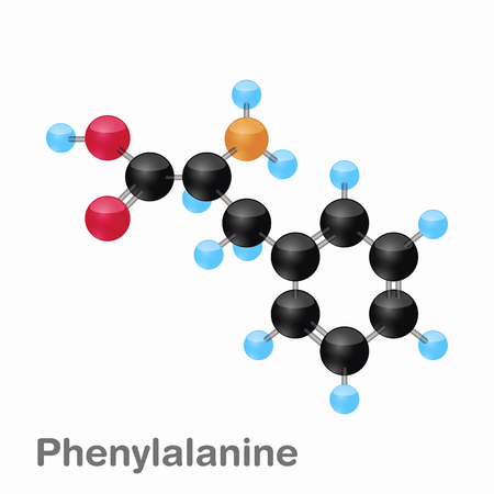 Molecular omposition and structure of Phenylalanine, Phe, best for books and education