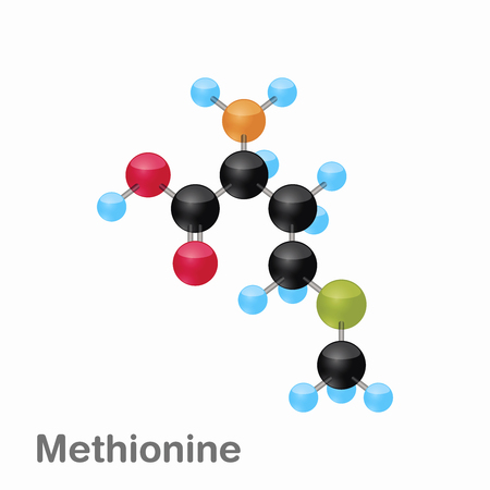 Molecular omposition and structure of Methionine, Met, best for books and education