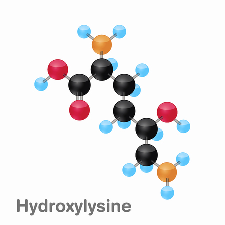 Molecular omposition and structure of Hydroxylysine, Hyl, best for books and education