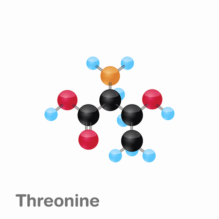 Molecular omposition and structure of Threonine, Thr, best for books and education