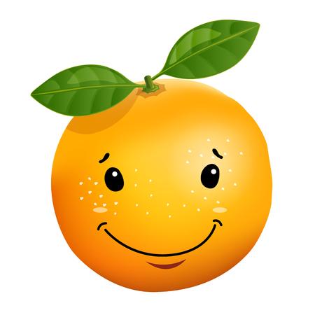 Illustration du personnage de dessin animé orange. Illustration vectorielle, isolée sur fond blanc Vecteurs