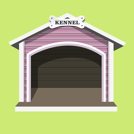 Dog kennel. Vector illustration