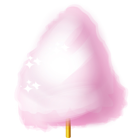 Cotton candy. Vector illustration on white background
