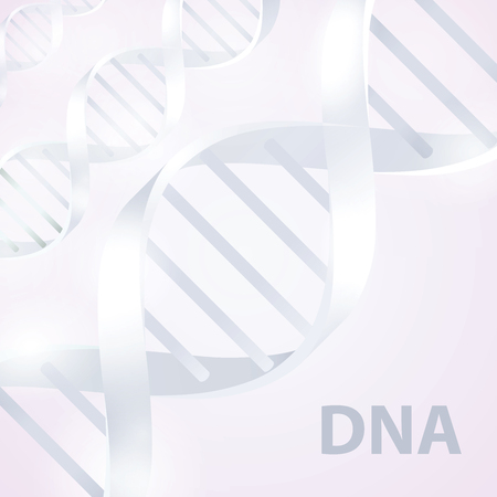 Dna. 3d stile, vector illustration, isolated on white background