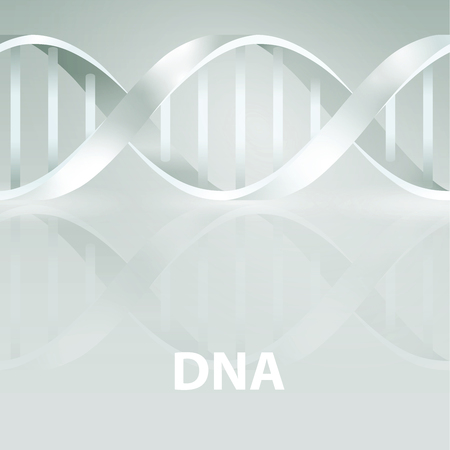 Dna. 3d stile, vector illustration, isolated on gray background