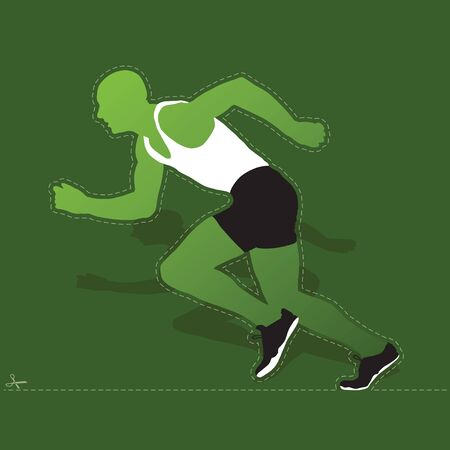 Runner silhouette, in high quality, isolated