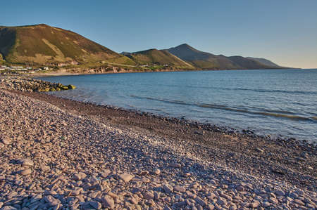 Sunset at rossbeigh beach, Ireland. Beautiful coastline at the Ring of Kerry (Ireland) during sunset.