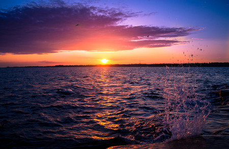 Sunset on the Baltic Sea Aland Islands photo