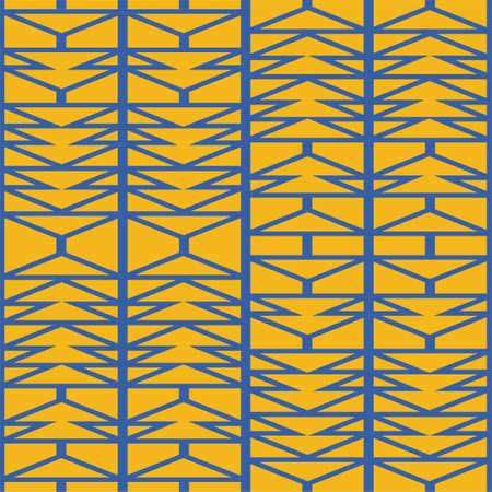 Abstract irregular geometric seamless pattern, afro inspired aztec herringbone background vector illustration. Hipster backdrop for textile carpet wall art design