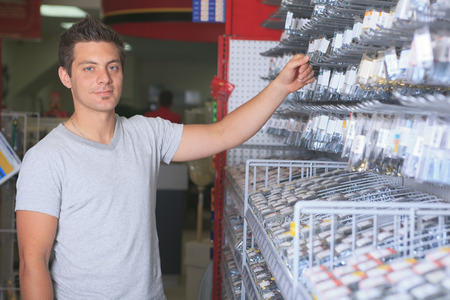 A hardware store client on the market. photo