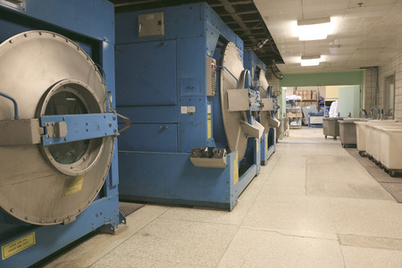 industrial: a row of textile dyeing machines.