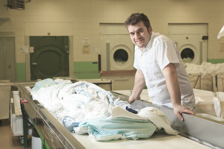 hospital interior: Industrial washing machines